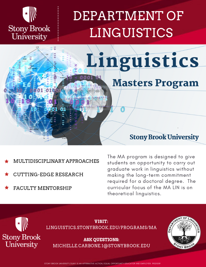 M A  Linguistics Program | Department of Linguistics